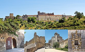 Tomar - Castle and Convent of the Knights Templar of Tomar; transferred in 1344 to the Knights of the Order of Christ