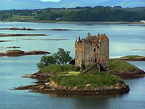 Clan Stewart - Castle Stalker, a seat of the Stewarts of Appin
