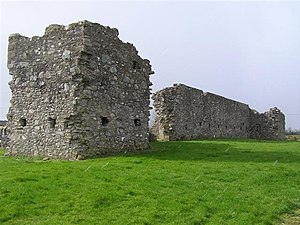 Castlederg - The remains of Castlederg Castle