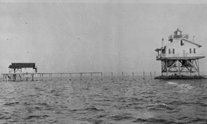 Cat Island Light - Cat Island Light in 1915 (USCG)