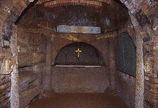 Catacombs of Saint Agnes building in Rome, Italy