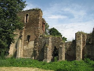 Baia - Ruins of the early 15th century local Roman Catholic cathedral, once erected by the Transylvanian Saxon colonists.