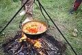 Caultron with goulash at Tripod near Kouty, Třebíč District.jpg