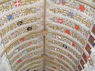 Viscount De L'Isle - Ceiling of the Sidney Chapel at St John the Baptist, Penshurst