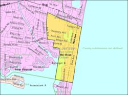 Census Bureau Map Of Bay Head New Jersey