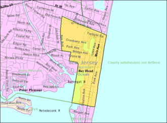 Bay Head, New Jersey - Image: Census Bureau map of Bay Head, New Jersey