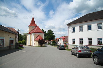 Kaliště (Pelhřimov District) - Image: Center of Kaliště, Pelhřimov District