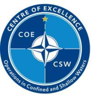 Centre of Excellence for Operations in Confined and Shallow Waters - Logo of the COE CSW