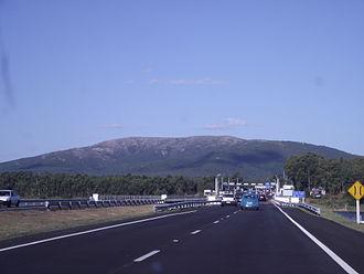 Cerro de las Ánimas - Cerro de las Ánimas viewed from a road (Ruta Interbalnearia)