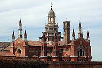 Certosa di Pavia from a distance.jpg