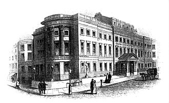 Charing Cross Hospital - Charing Cross Hospital in Villiers Street, Westminster, the home of the hospital from 1821 to 1973