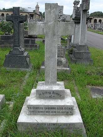 Charles Lees (colonial administrator) - Funerary monument, Brompton Cemetery, London