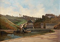 Charles Francisque Raub Brest, l'étang de la Villeneuve.jpg