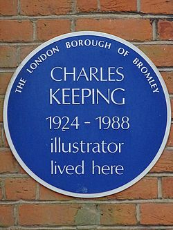 Charles keeping 1924 1988 illustrator lived here