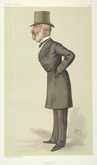 "Sir Charles Palmer, 1st Baronet - ""Shipping"". Caricature by Ape published in Vanity Fair in 1884"