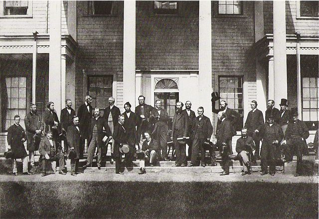 Charlottetown Conference Delegates By George P. Roberts [Public domain or Public domain], via Wikimedia Commons