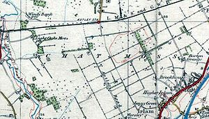 Chat Moss - A 1937 map of Chat Moss