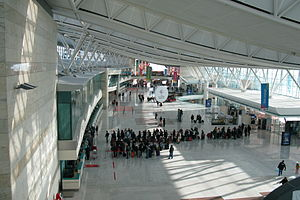 Check-In counters at Esenboğa Havalimanı, Ankara, Turkey.jpg