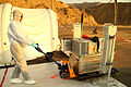 Checking field equipment for radioactive contamination upon the return of field team. -IFE14 (15300602624).jpg
