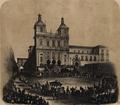 Chegada a S. Vicente de Fora dos restos mortaes de S.M.F. a Rainha Senhora D. Maria II (1854) - Manuel Maria Bordalo Pinheiro.png
