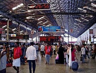 Chennai Central railway station - Inside the main station