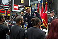 Chief of Staff of the Army Gen. Raymond T. Odierno, center, congratulates incoming Soldiers after Odierno administered the oath of enlistment during a ceremony in Times Square in celebration of the Army's 120614-A-AO884-271.jpg