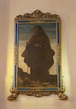 Chiesa parrocchiale di Ospedalicchio, San Vitale Eremita, olio su tela XVII sec.jpg