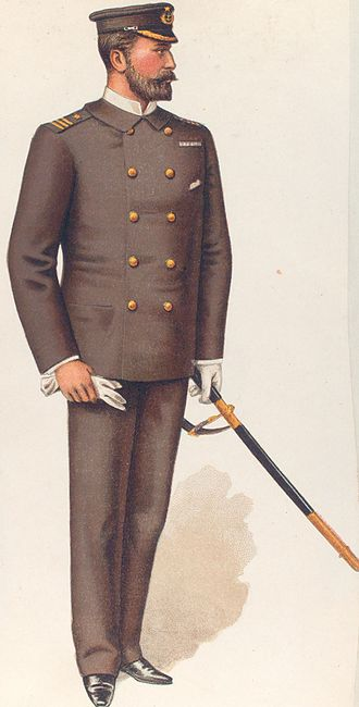 Chilean Navy - Chilean Navy officer's uniform, circa 1890