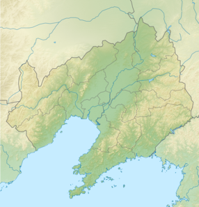 Map showing the location of Qianshan National Park