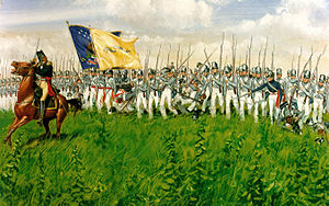 Battle of Chippawa - Winfield Scott leads his infantry brigade forward.