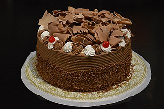 Chocolate cake - Double-layer chocolate truffle cake