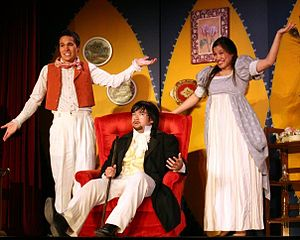 Brown Opera Productions - Babylas, Choufleuri, and Ernestine at home scheming