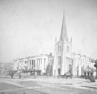 Christ Church Cathedral (New Orleans) - The third Christ Church building, c. 1870s