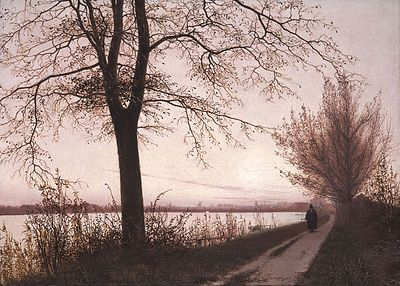Christen Købke - Autumn Morning on Lake Sortedam.jpg