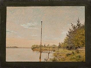 View from Dosseringen near the Sortedam Lake Looking Towards Nørrebro. Study
