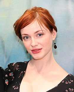 Christina Hendricks @ BE booth.jpg