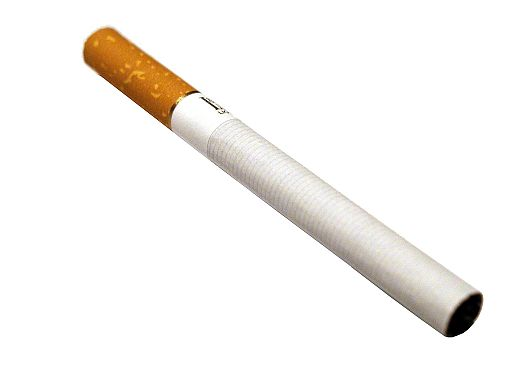 Cigaretet white background stock photo