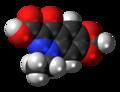 Cinoxacin molecule spacefill.png