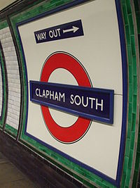 Clapham South stn roundel.JPG
