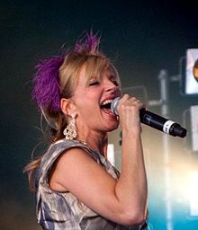 Grogan performing with Altered Images