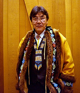 Voormalig Opperhoofd Clarence Alexander, Ecotrust Indigenous Leadership Award ceremony, Portland, Oregon, 2004