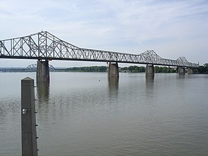 George Rogers Clark Memorial Bridge - The George Rogers Clark Memorial Bridge as seen from Louisville Waterfront Park