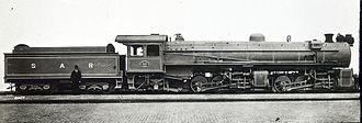 South African Class MH 2-6-6-2 - Image: Class MH 2 6 6 2 no. 1661