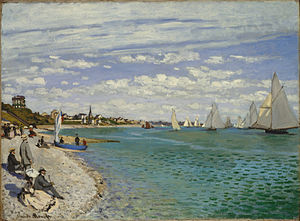 Claude Monet, 1867, Regatta at Sainte-Adresse, Metropolitan Museum of Art.jpg