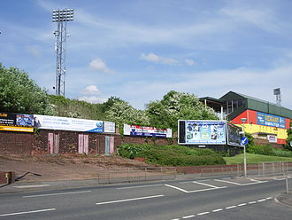 Cliftonhill - The outside of the stadium