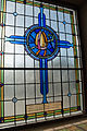 Clonmel Irishtown St. Mary's Church of the Assumption Nave West Wall First Bay Lower Window Mitre and Crozier 2012 09 06.jpg