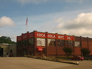 Minden, Louisiana - The Minden Coca-Cola Bottling Plant is a distribution center at 412 Pine Street across from Minden Cemetery