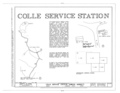Colle Service Station, State Routes 732 and 53, Simeon, Albemarle County, VA HABS VA,2-SIM,3-; (sheet 1 of 4).png