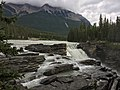Columbia Icefields Discovery Centre Waterfall.jpg