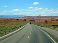 Commercial truck travelling on I-70 in Utah.jpg